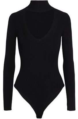 Cushnie et Ochs Cutout Ribbed-Knit Turtleneck Bodysuit
