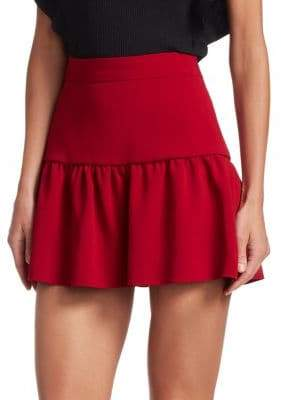 RED Valentino Stretch Frisottine High-Rise Mini Skirt
