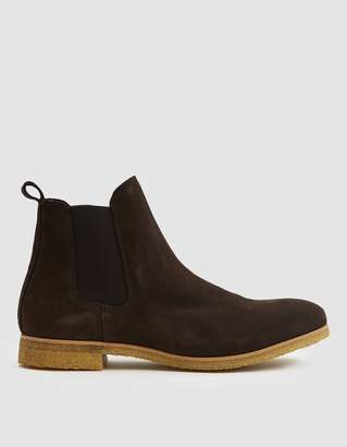 Stb Copenhagen Kelvin Suede Boot in Dark Brown