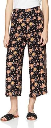 New Look Women's 56913 Trousers, (Black Pattern)