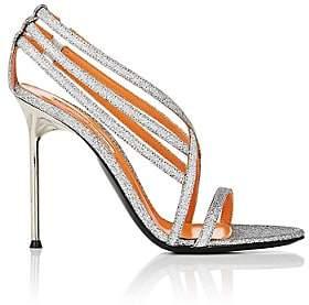 Walter De Silva Women's Glitter Strappy Sandals - Silver