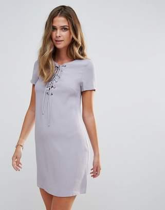 Glamorous Lace Up Shift Dress