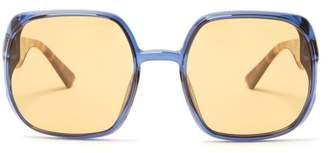 Christian Dior Diornuance Square Frame Sunglasses - Womens - Yellow