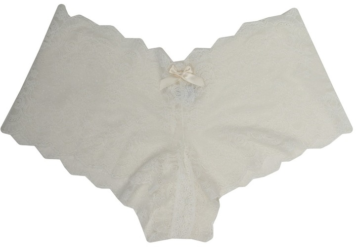 Hanky Panky Luxe Lace Crotchless Brief
