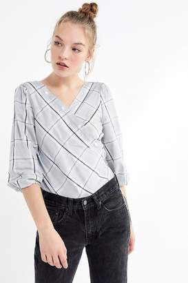 Urban Outfitters Mensy Button-Front Wrap Top
