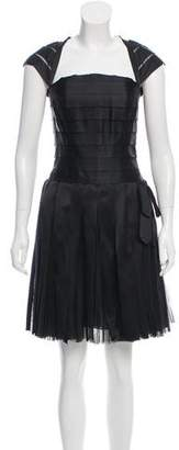 Chanel Embellished Pleated Dress