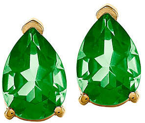 QVC 14K Pear-Shaped Gemstone Stud Earrings