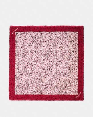 Coach Heart Print Silk Twill Square