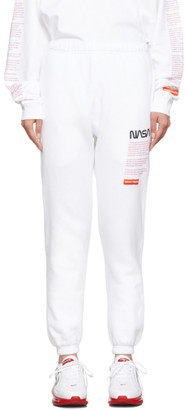 Heron Preston White Facts Lounge Pants