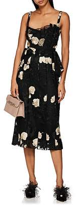 Brock Collection Women's Dailey Embroidered Organza Midi-Dress