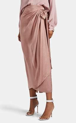Juan Carlos Obando Women's Washed Satin Sarong Skirt - Mauve