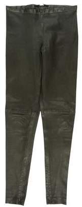 Victoria Beckham Leather Mid-Rise Skinny Pants