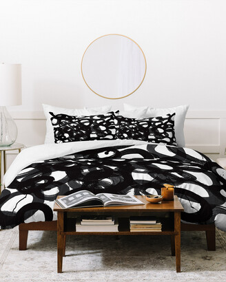 Deny Designs Kent Youngstrom Black Circles Duvet Cover Set