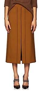 Derek Lam Women's Slit-Front Wool Gabardine Pencil Skirt - Vicuna