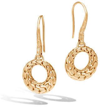 John Hardy Classic Chain Small Open Circle Drop Earrings in 18K Gold