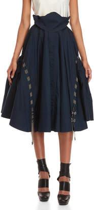 Antonio Berardi Navy Voluminous Midi Skirt