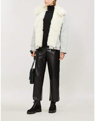 Yves Salomon Drawstring cotton-blend and shearling parka coat
