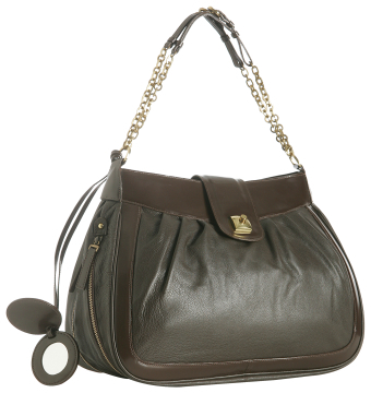 Tufi Duek brown leather 'Francoise' chain link bag