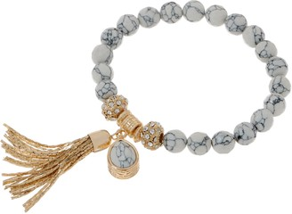 Samantha Wills Faceted Gemstone Stretch Bracele with Tassel