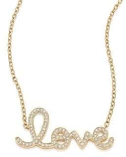 Sydney Evan Large Love Diamond& 14K Yellow Gold Pendant Necklace