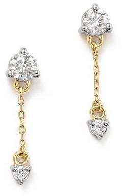 Adina 14K Yellow Gold Amigos Diamond Chain Drop Earrings
