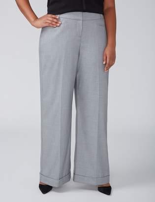 Lane Bryant Allie Tailored Stretch Wide Leg Pant - Cuffed Gray