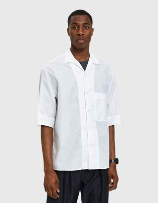 Lemaire Convertible Collar Shirt in White