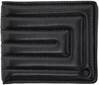Versace Black Quilted Medusa Wallet $425 thestylecure.com