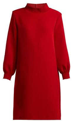A.P.C. Julie Smocked Stretch Crepe Mini Dress - Womens - Red