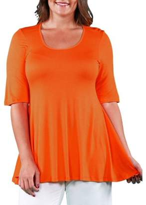 158b1487593 24/7 Comfort Apparel Women's Plus Size Elbow Sleeve Plus Size Tunic Top For  Women