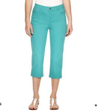 Gloria Vanderbilt Womens Jordyn Embellished Capri Jeans