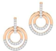 Swarovski Circle Crystal Pave Round Stud Earrings
