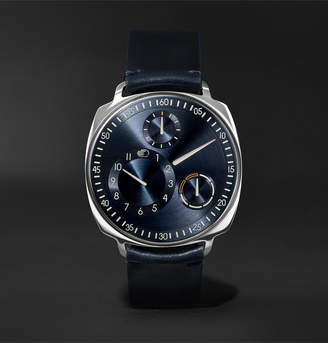 N. Ressence Type 1 Squared Mechanical 40mm Stainless Steel And Leather Watch, Ref. No. Type 1(2