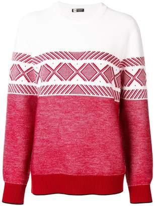 Ermenegildo Zegna geometric pattern stripe jumper