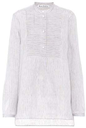 Acne Studios Lysanne Sketch linen-blend shirt