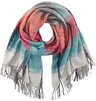 S'Oliver Women's 39.810.91.2626 Scarf, (Purple/Pink Check 44N1), One (Size: 1)