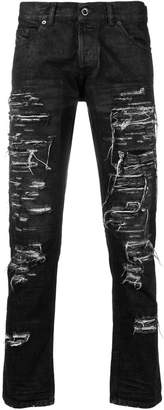 Diesel Black Gold destroyed slim-fit jeans