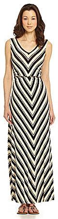 Calvin Klein V-Stripe Maxi Dress