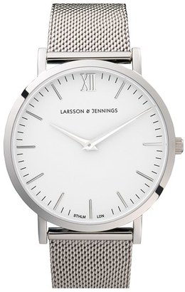 Larsson & Jennings 'Lugano' Mesh Strap Watch, 40Mm $315 thestylecure.com