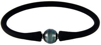 Splendid Pearls Rhodium Plated 10-11Mm Tahitian Pearl Bracelet