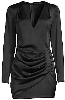 Jay Godfrey Women's Oulette Faux-Wrap Mini Dress - Size 0