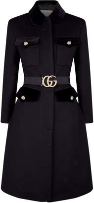 Gucci Tiger Button Belted Coat
