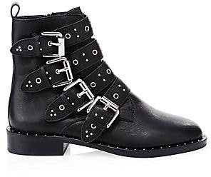 Rebecca Minkoff Women's Seren Leather Moto Booties