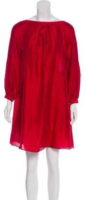 Derek Lam Silk Long Sleeve Dress
