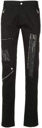 Alexander McQueen zip patched trousers