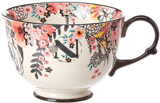 Anthropologie Teatime Monogram Teacup