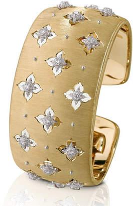 Buccellati Macri Giglio 18k Yellow Gold Diamond Cuff, 3cm