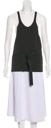 Celine Belted Sleeveless Top