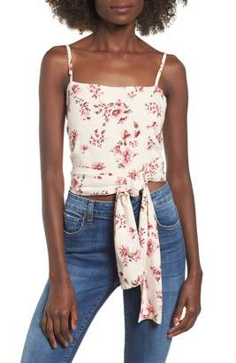 Amuse Society Only You Knot Waist Top