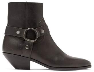 Saint Laurent West Leather Ankle Boots - Womens - Black